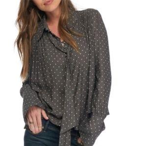 Fp modern muse polka dot blouse